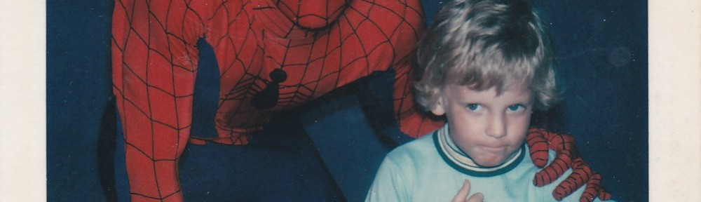 Me and Spider-Man at Six Flags in 1979.